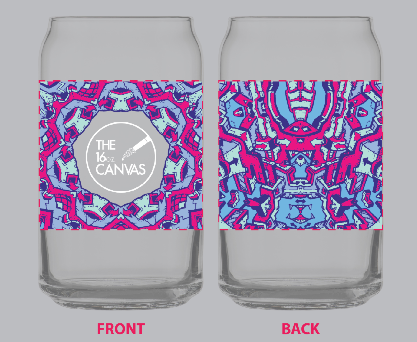 LIMITED EDITION 16oz. Canvas glasses - artwork by Dune Hagger