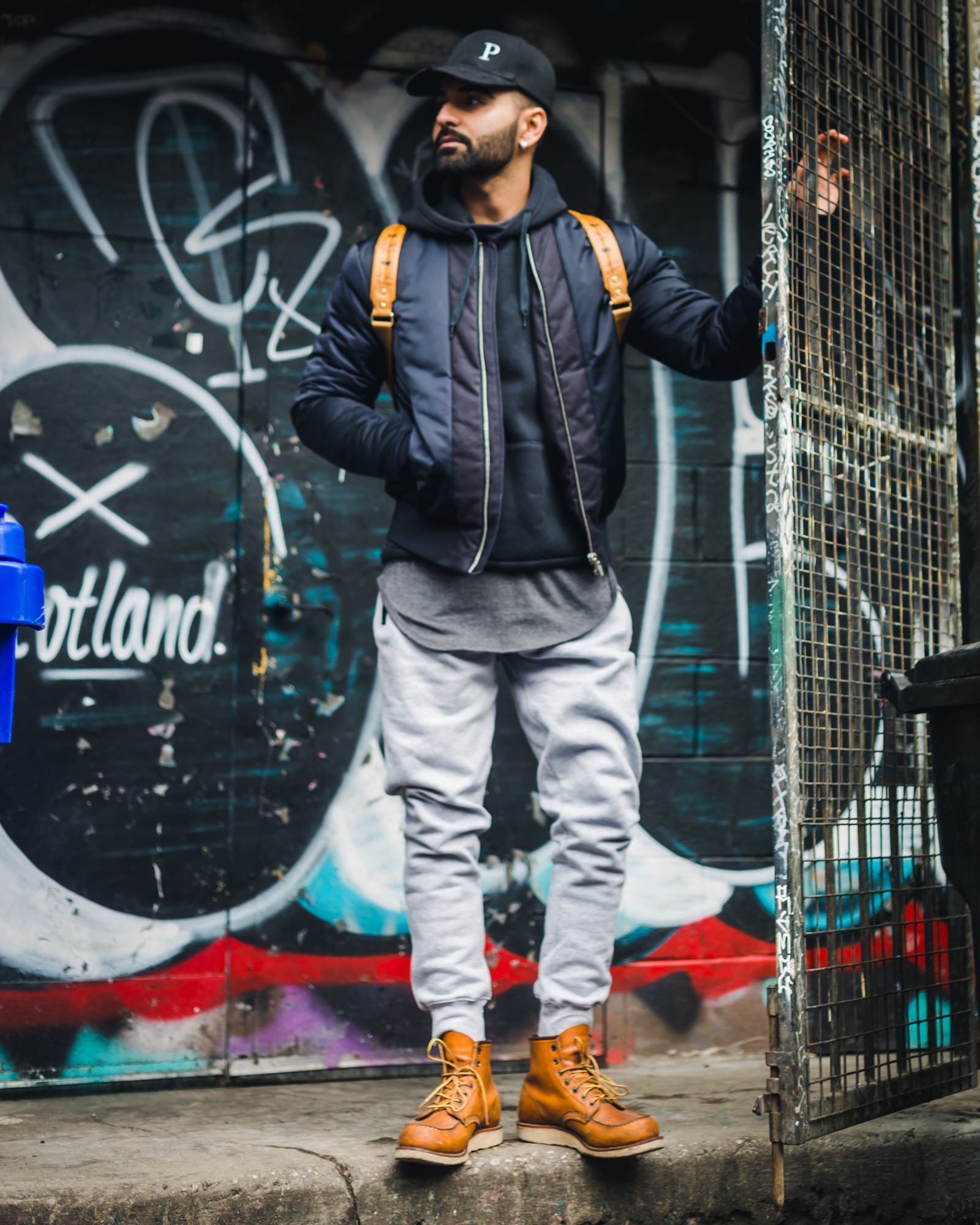 Jaideep (CEO of Parer) rocking both the charcoal scoop tee and mist grey joggers.