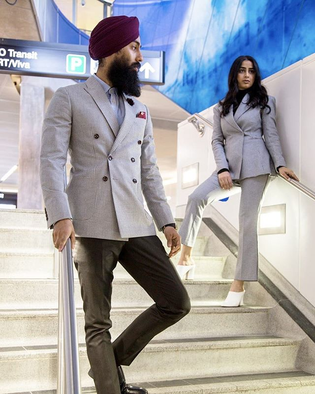The DB Series - For Him & Her  Harj's Suit - @rivesseclothing Tani's Suit - @hm  Photography - @vividmediaco  #styledbyharj #collab #doublebreast #forhim #forher #stylist #mensfashion #womensfashion #customsuits