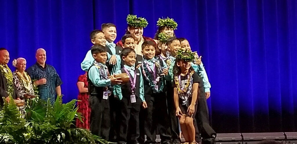 2018 | queen lili'uokalani Keiki Hula competition   Malia Craver Perpetual Language Award  3rd place Keiki Kane 'auana, 3rd place keikie kane kahiko
