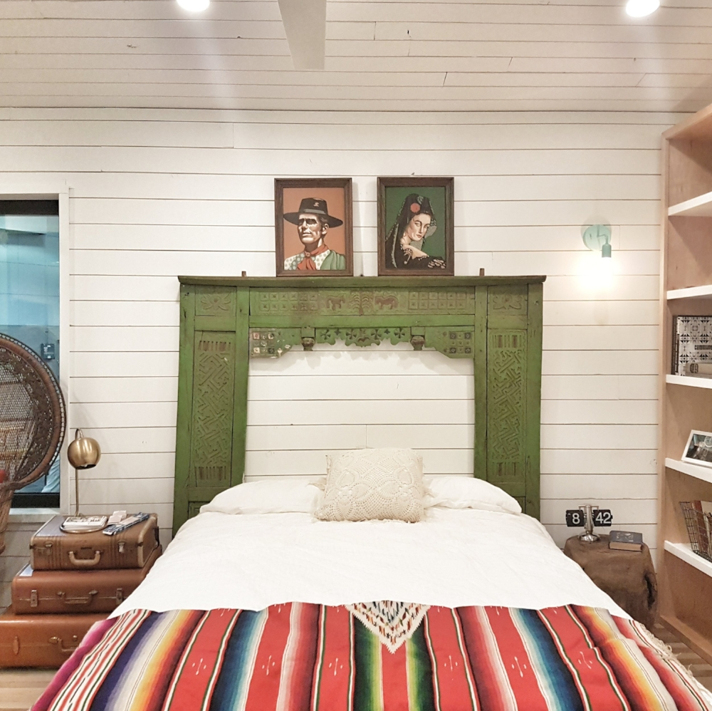 Inside the Joshua Tree-themed tiny home by Kim Lewis at Dwell on Design.