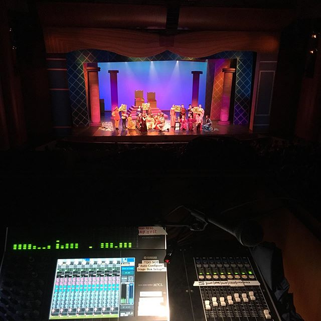 Got to sound design another great summer show at The @calabasashigh Performing Arts Education Center last week: Once Upon a Mattress. 22 wireless vocal mics and a 15-piece band. The shows themselves are entirely student-run; these kids are crazy talented!