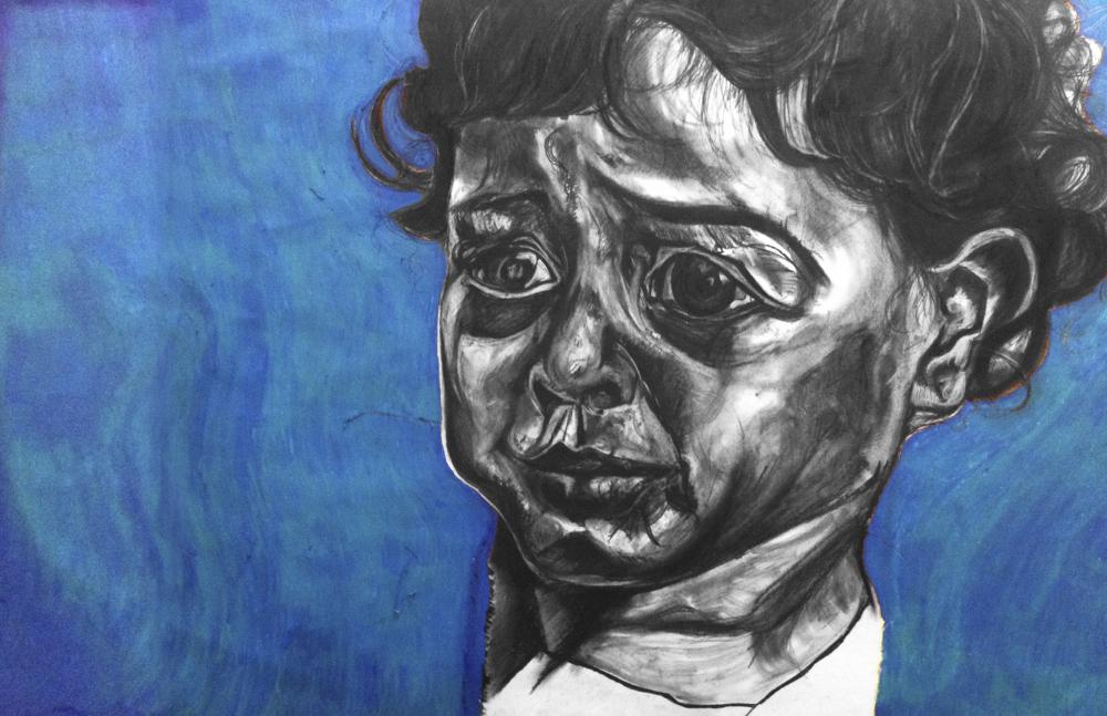 28'' by 36'' Gaza child 2014.jpeg