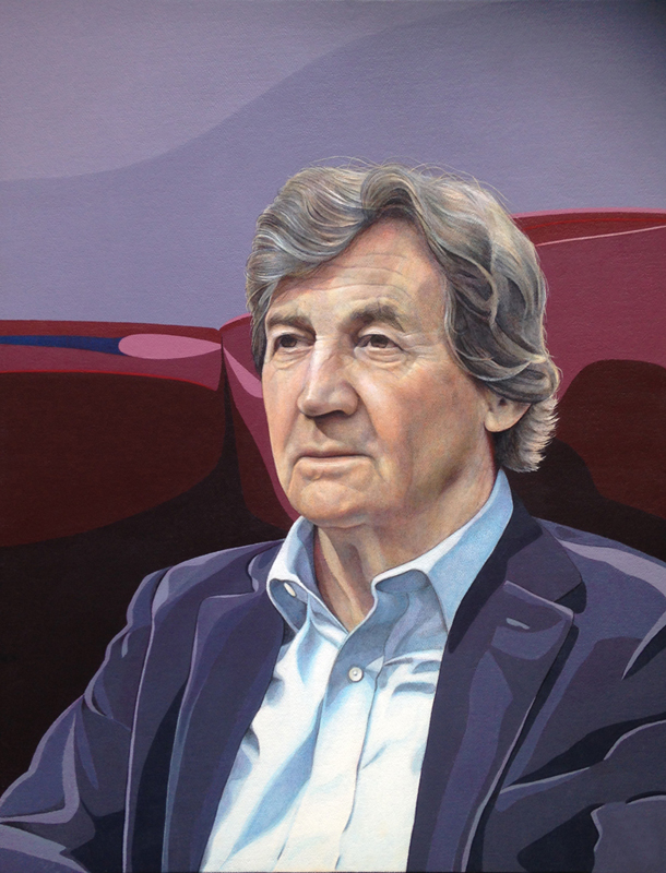 Lord Melvyn Bragg | Acrylic on panel | 16x12"