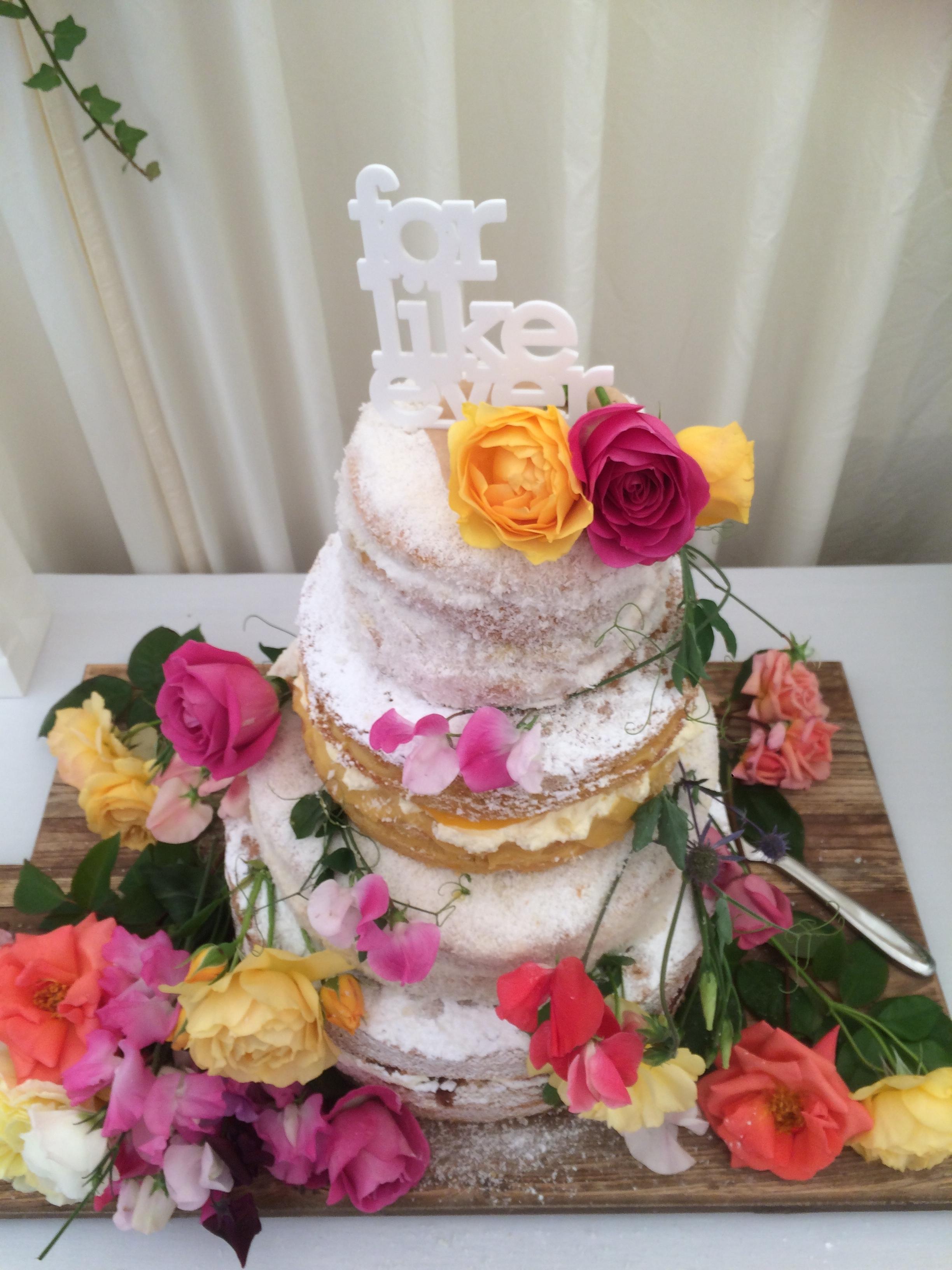 Tropical fruits wedding cake