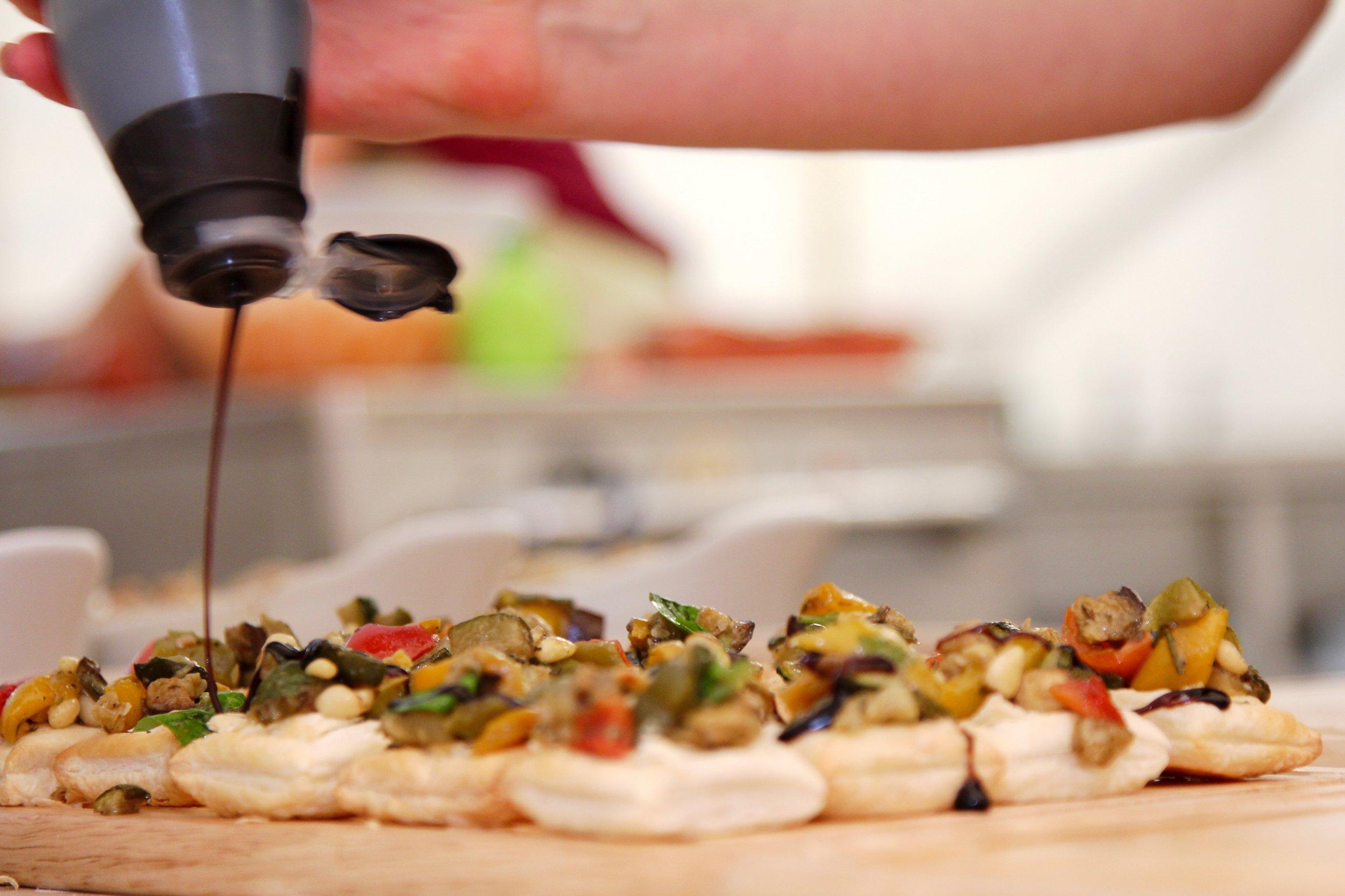 Mediterranean vegetable tartlets