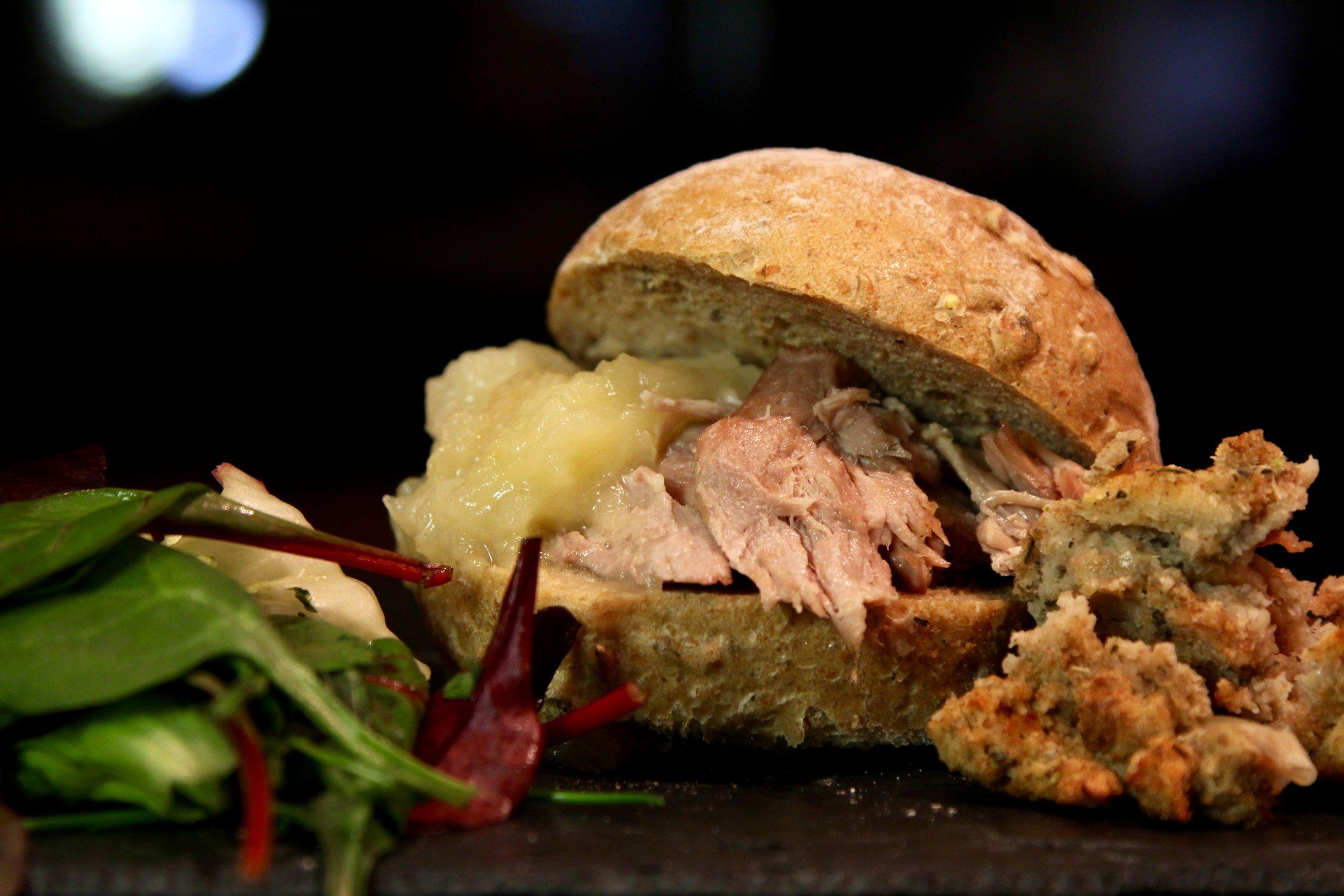 Amazing hog roast sandwich