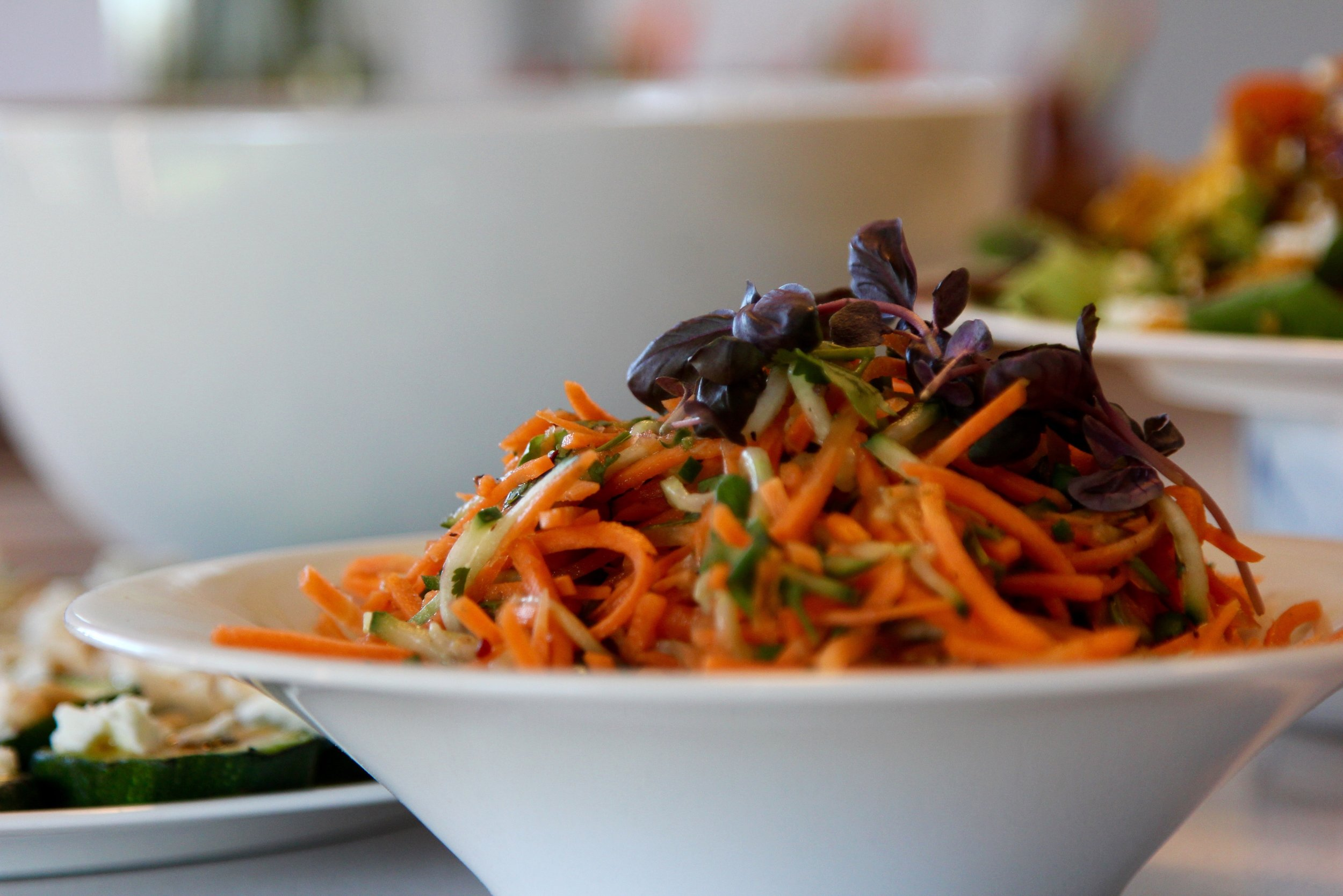 Spicy pickled carrot and cucumber salad