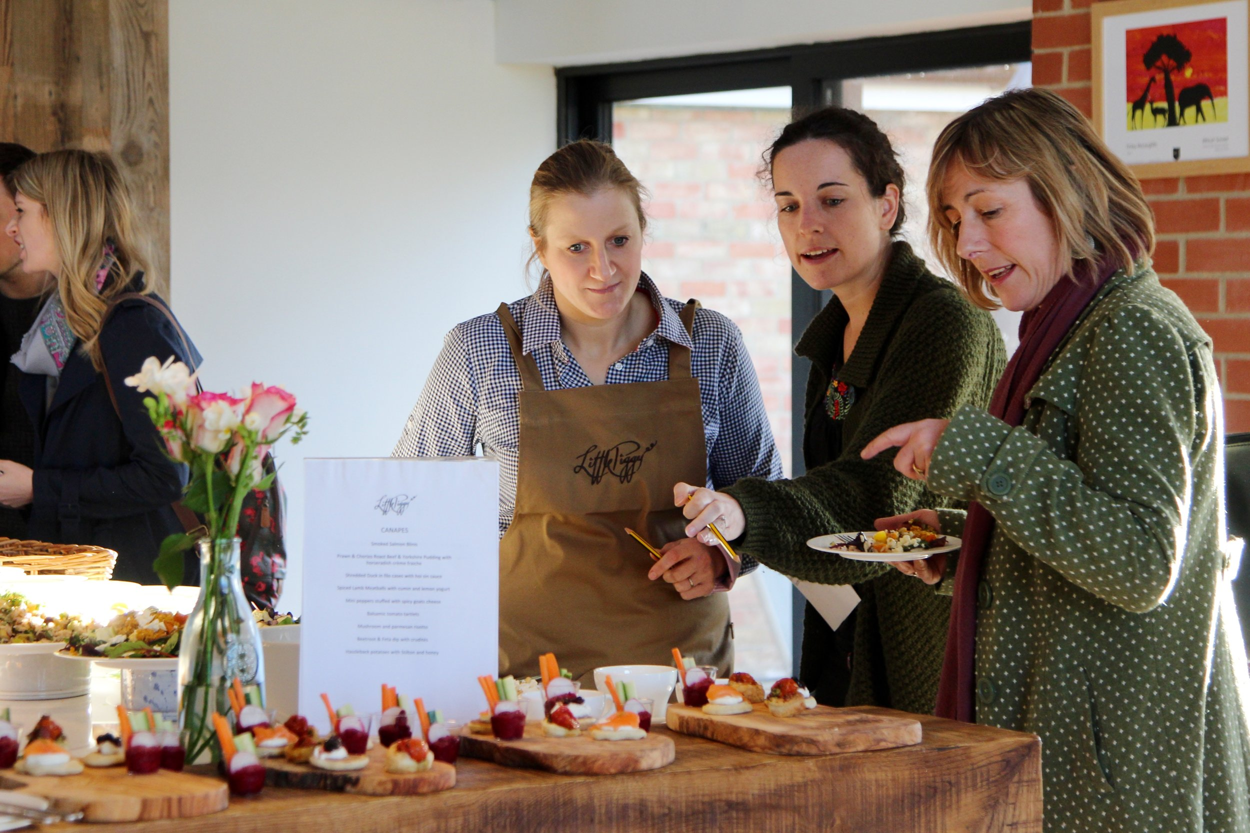 Image of canapés tasting