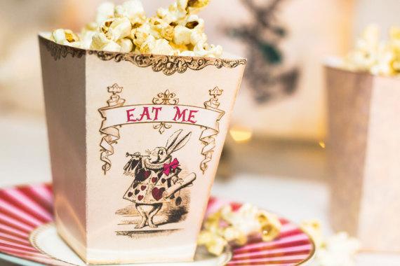 Alice in Wonderland popcorn box