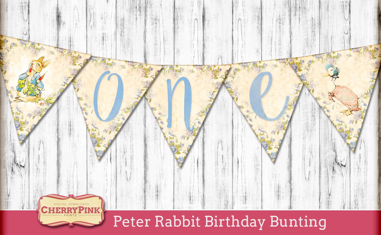 Peter Rabbit Birthday Bunting