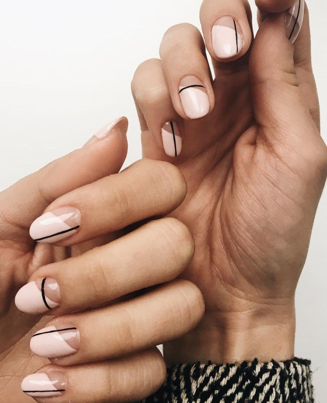 neutral nail art designs