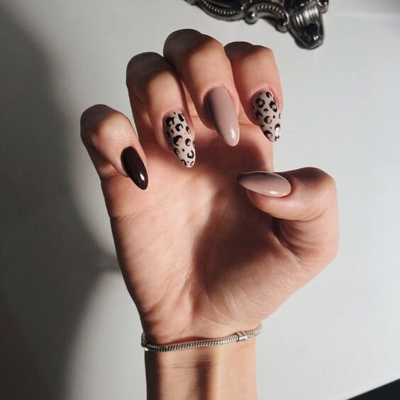 cheetah nail art