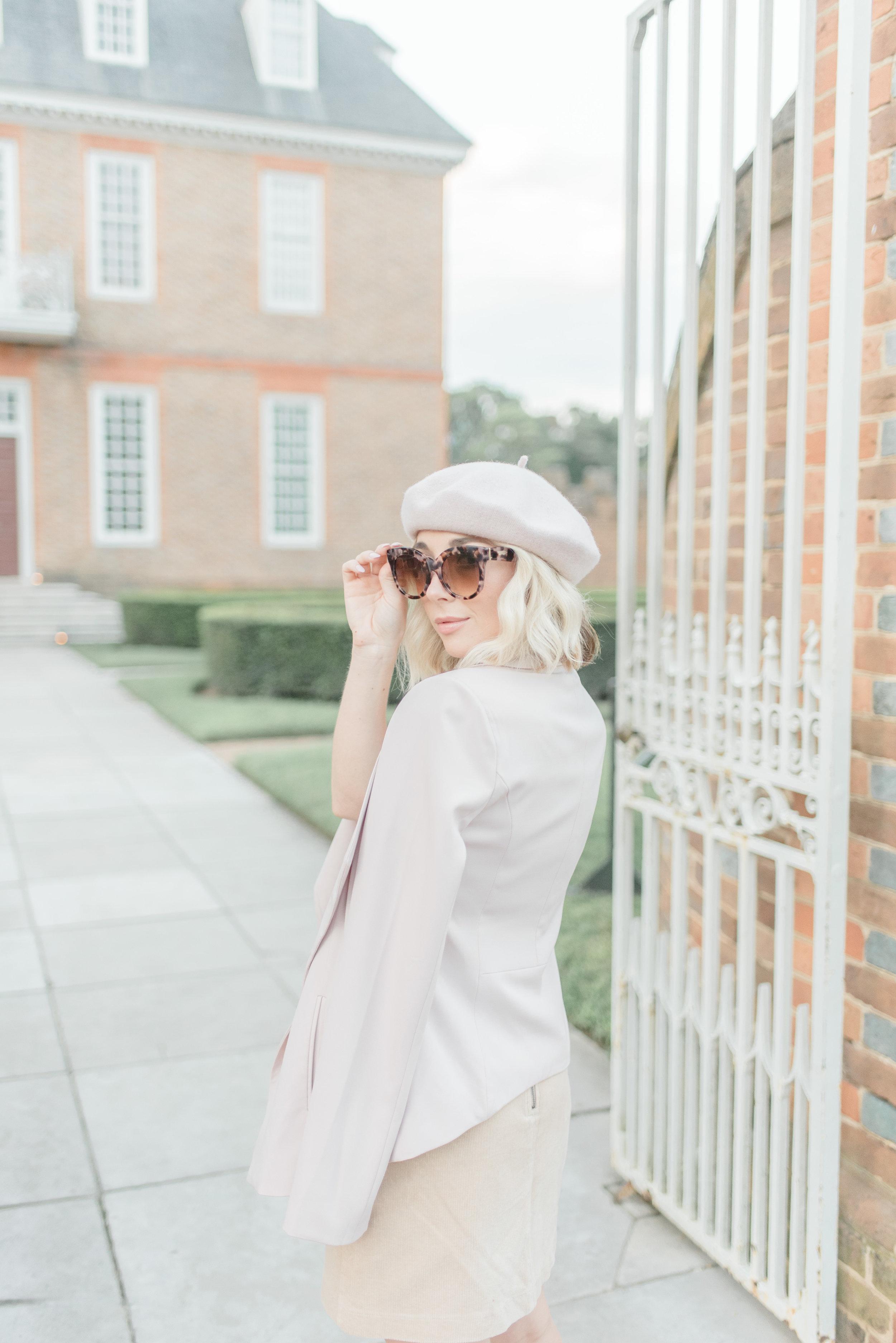 blush pink Parisian style