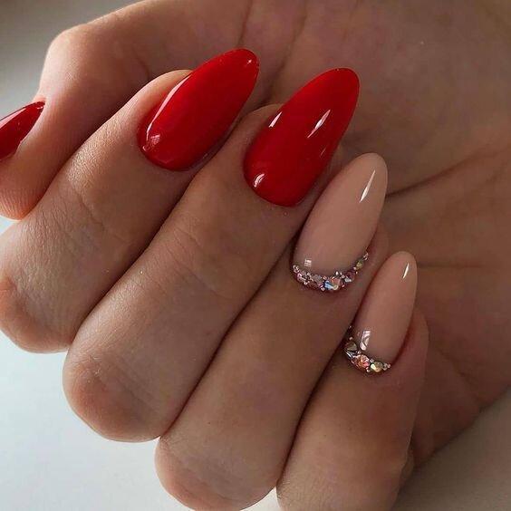 red nail art 2019