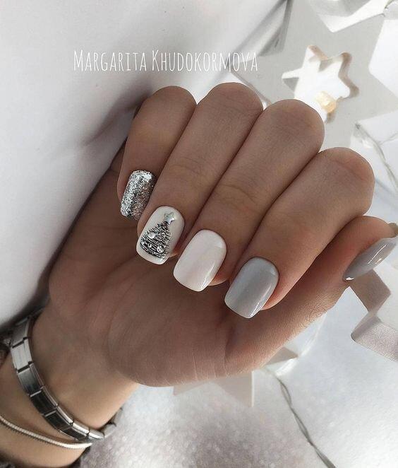 neutral nail art 2019
