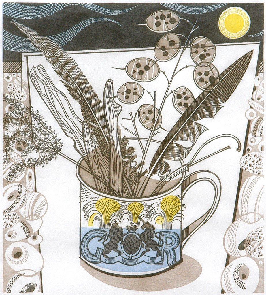 Angie Lewin 'The 1937 Coronation Mug'
