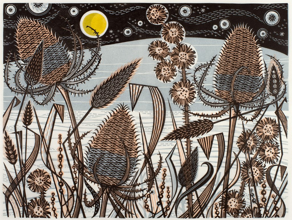 Angie Lewin 'Lakeside Teasels'