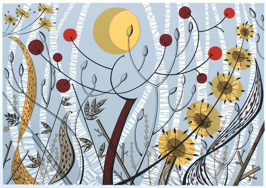 Angie Lewin 'Birches Ballindalloch'