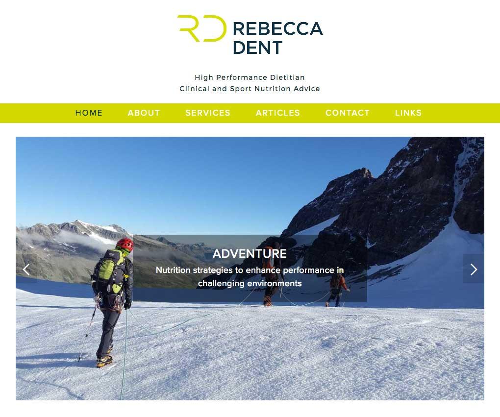 Rebecca Dent: High Performance Dietitian - Rebecca described her previous website as