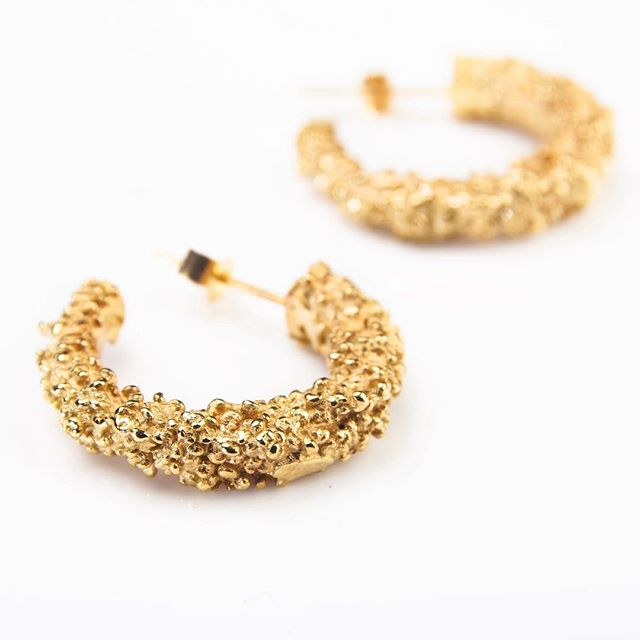 When it was first discovered, people thought gold was nuggets of sunshine that had fallen to earth... Gold Plated Vesta Hoops, available to order from HGRJewellery.com! 📸 by @alasdair_watson  #summerfashion #granulation #goldjewellery #silverjewellery #goldearrings #scottishfashion #scottishbrand #scottishcraft #scottishdesign #handmadejewellery #handmadeintheuk