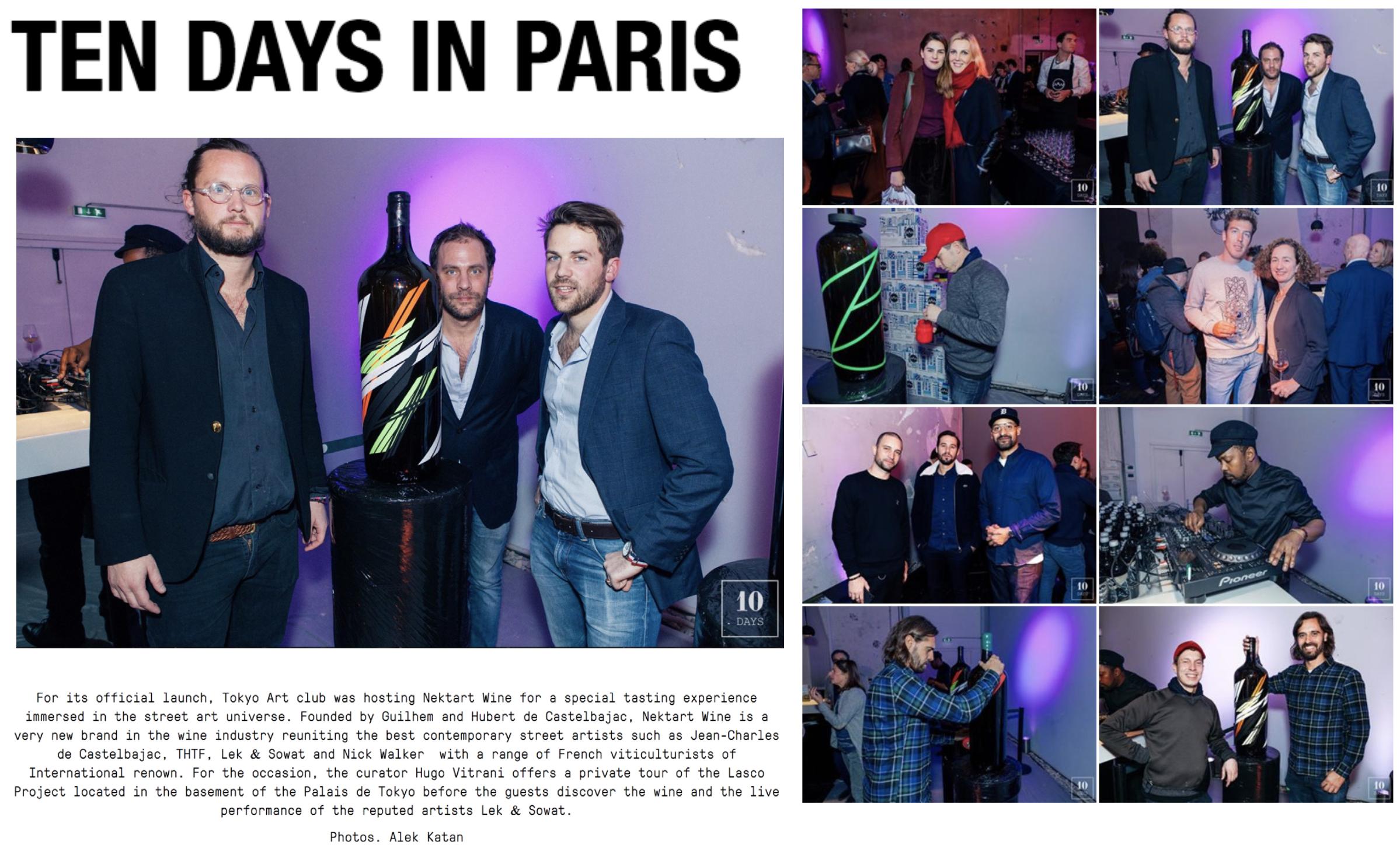 TEN DAYS IN PARIS  Décembre 2017
