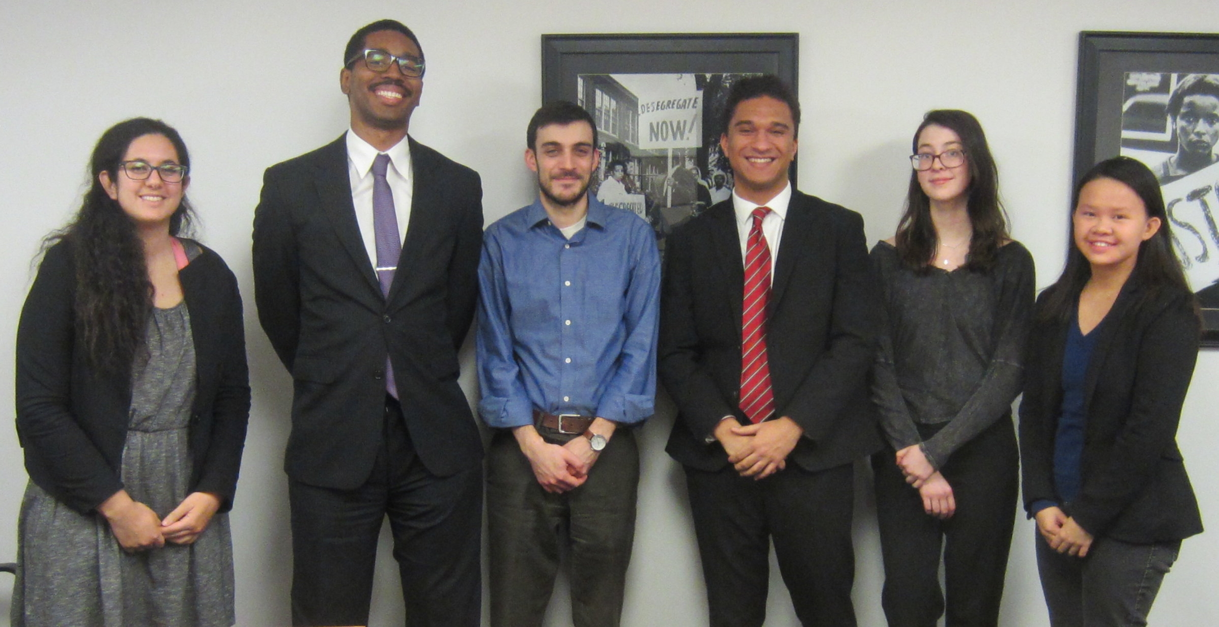 From left to right: Alexandria Boutros,Louis Bedford, Adam Cohen,Damian Richardson,Bailey Fox, and Amy Tan.