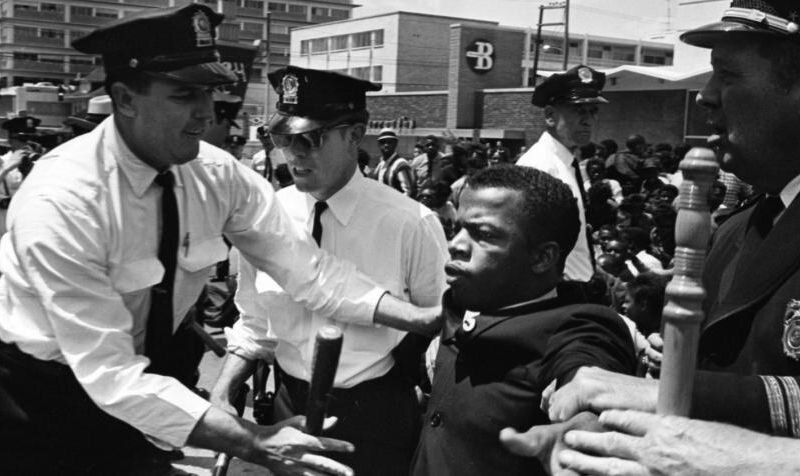 A still image from the documentary film,  John Lewis: Get in the Way