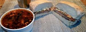 deli soup and sandwich