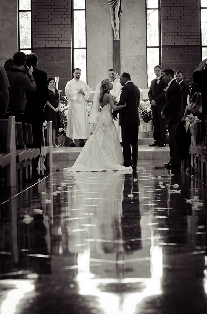 My favorite picture of my dad walking me down the aisle. Priceless!
