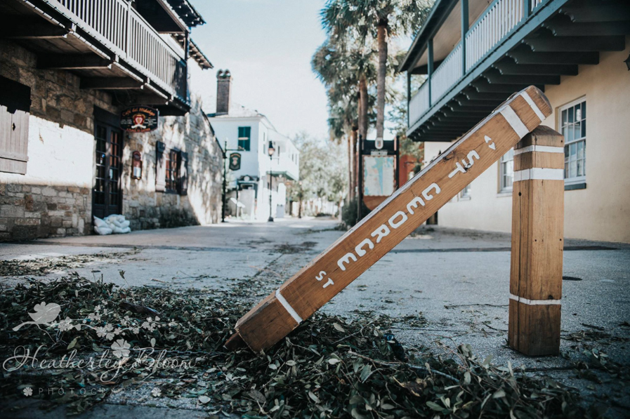 Iconic St. George St. after hurricane Matthew hit by  Heatherly Bloom Photography