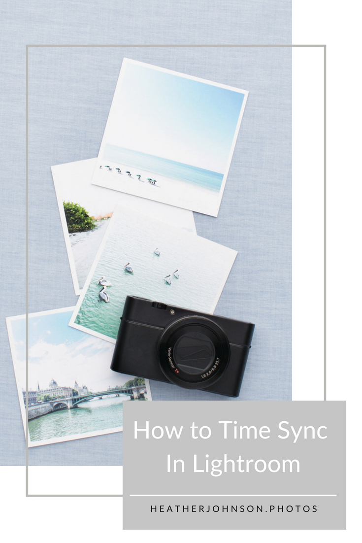 How to Time Sync Photos in Lightroom