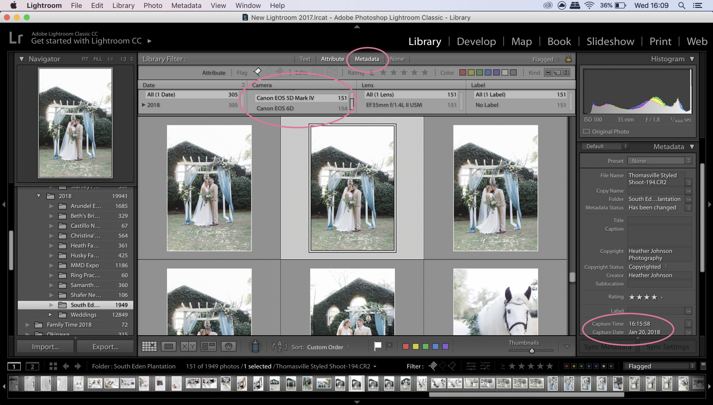 Step 1 in how to sync photos in lightroom. Click to enlarge