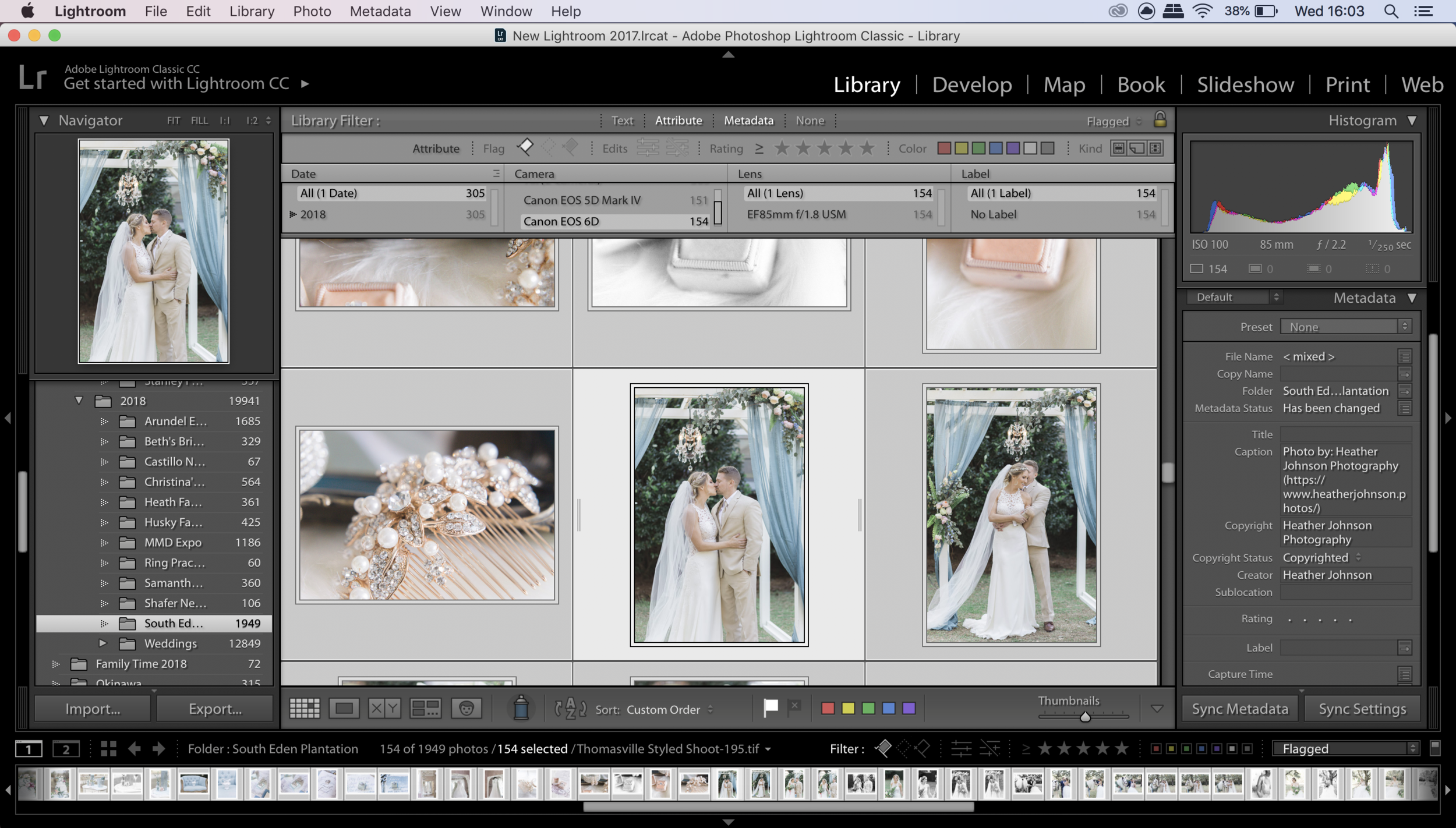 Step 2 in how to sync photos in lightroom. Click to enlarge