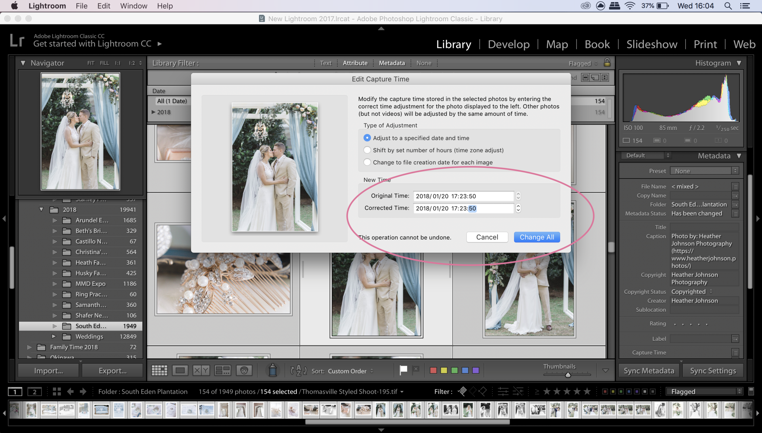 Step 4 in how to sync photos in lightroom. Click to enlarge