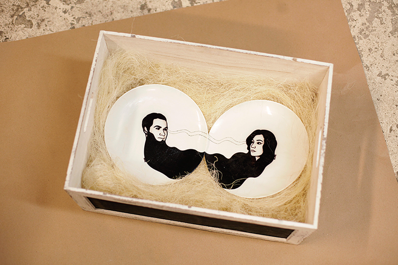 painted plates /wedding gift