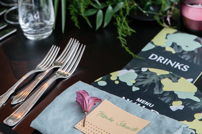 Location: Lobe Block / Catering: Wild + Wiese / Design + Styling; Wishbone / Installations: Wishbone / Florals: Wishbone / Rentals: Got Vintage / Photography: Anne Freitag