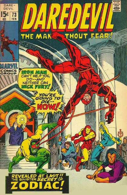 Daredevil issue 73, cover art by Marie Severin