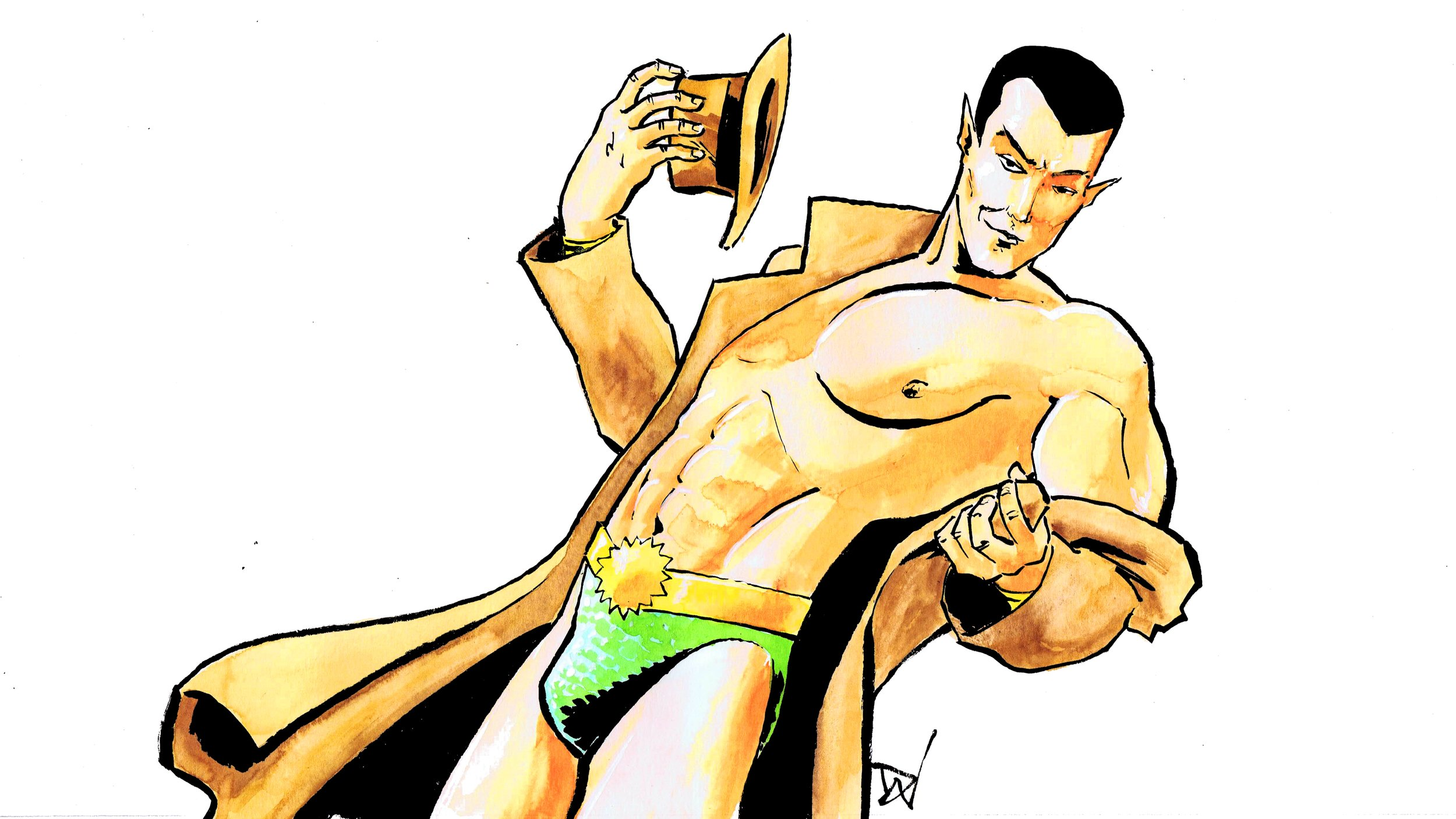 Namor! Art by David Wynne