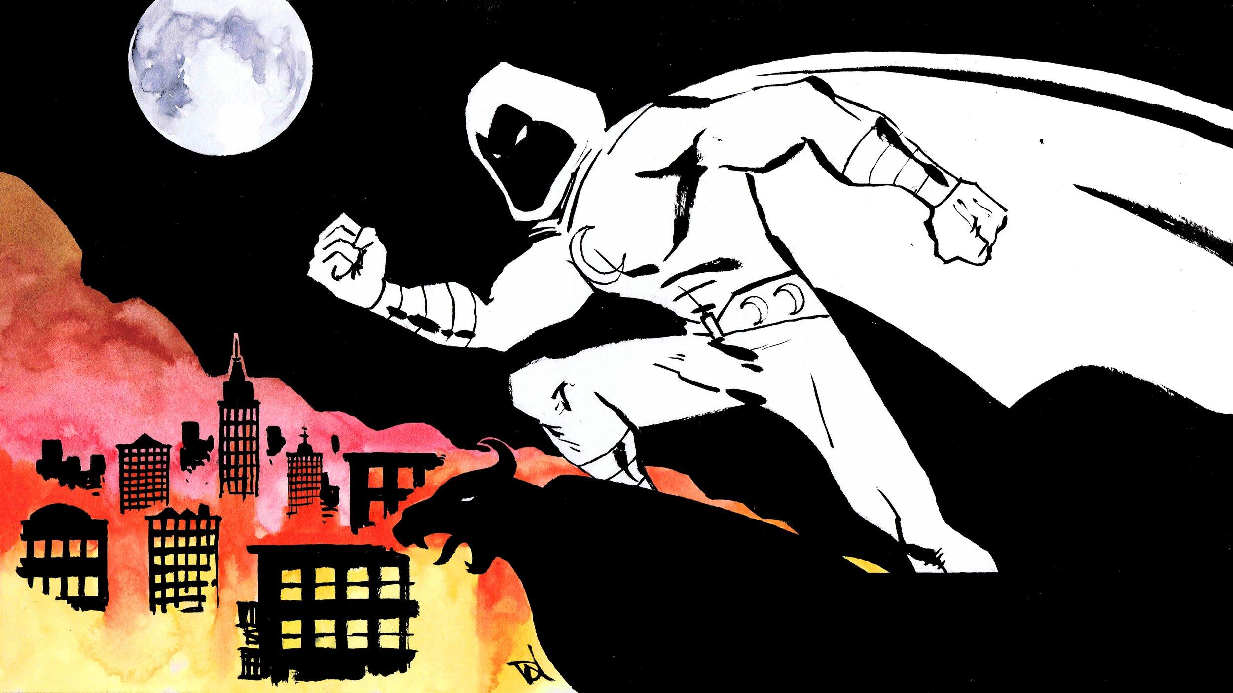 Mr Moon Knight, art by David Wynne