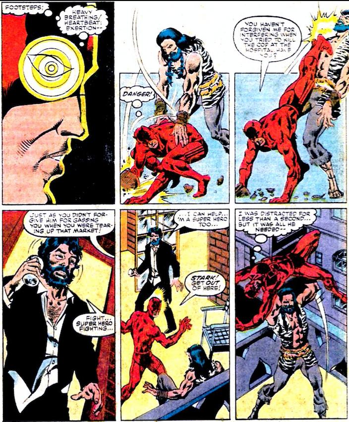 "Daredevil and Iron Man ""team-up""! - art by William Johnson and Danny Bulanadi"