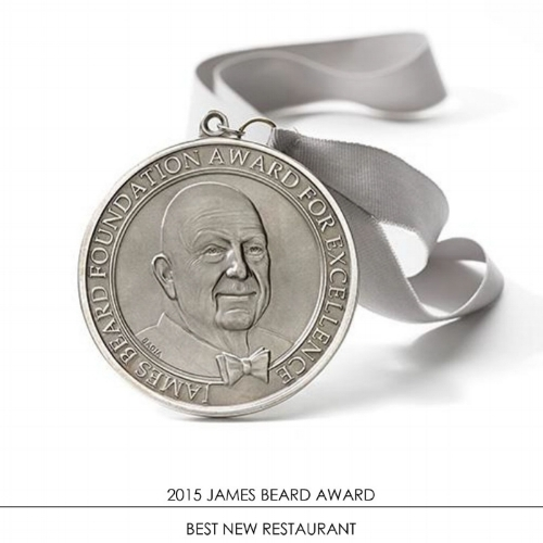 Bâtard - 2015 JAMES BEARD AWARD