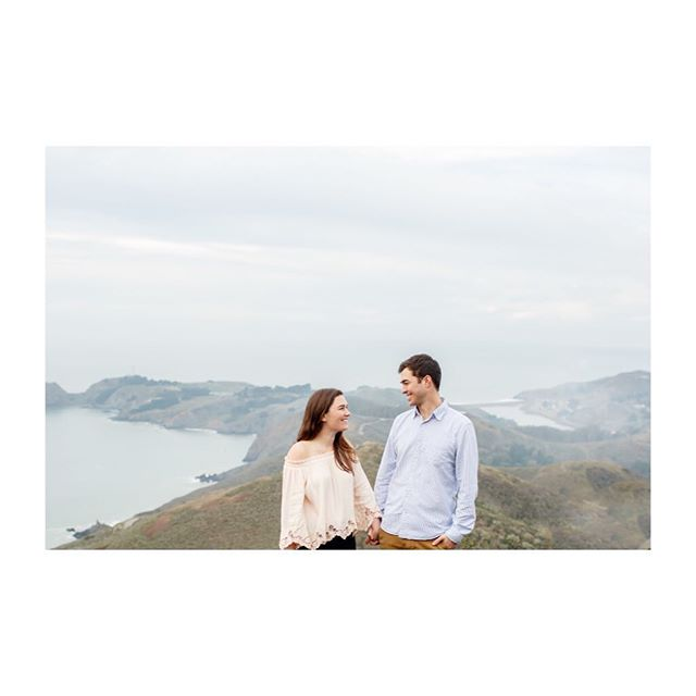 How cute are these two! Can't wait for their Tahoe wedding this summer #engagement #marinheadlands