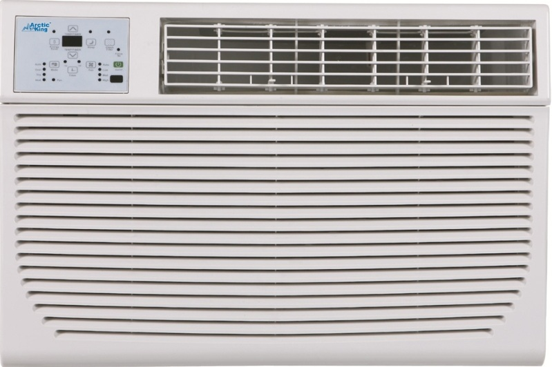 "Arctic King 14,000 BTU Wall Air Conditioner 220 Volts Heat/Cool Open Box Like New - Model: EWW14ERN1MH5Price: $ 250.00Dimension: 24.15"" W x 14.5"" H x 20.15"" DRoom Size: 400 - 700 Sq. Ft.3 Months Limited WarrantyAvailability: Limited"