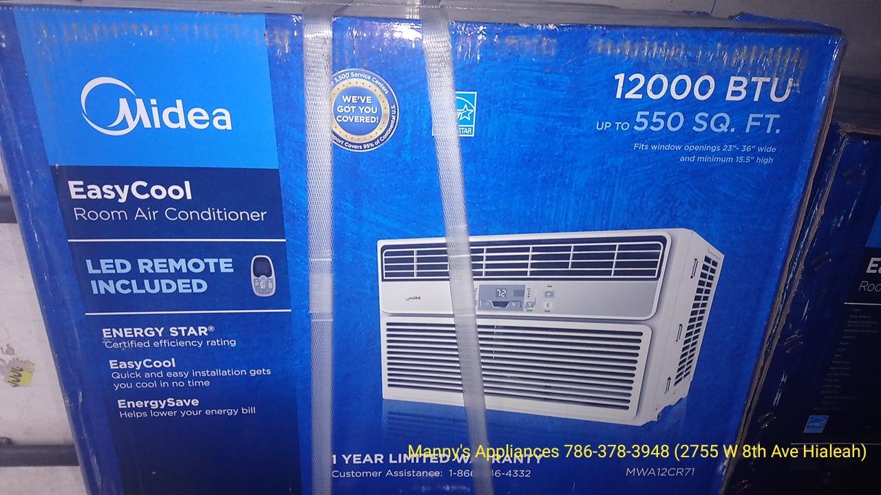 New 12,000 BTU Window A/C @ $ 300.00 ( 1 Year Warranty )