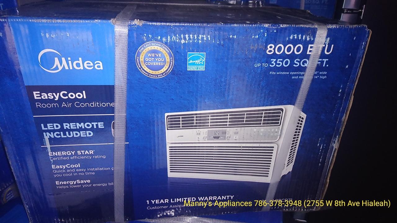 New 8,000 BTU Window A/C @ 200.00 ( 1 Year Warranty )