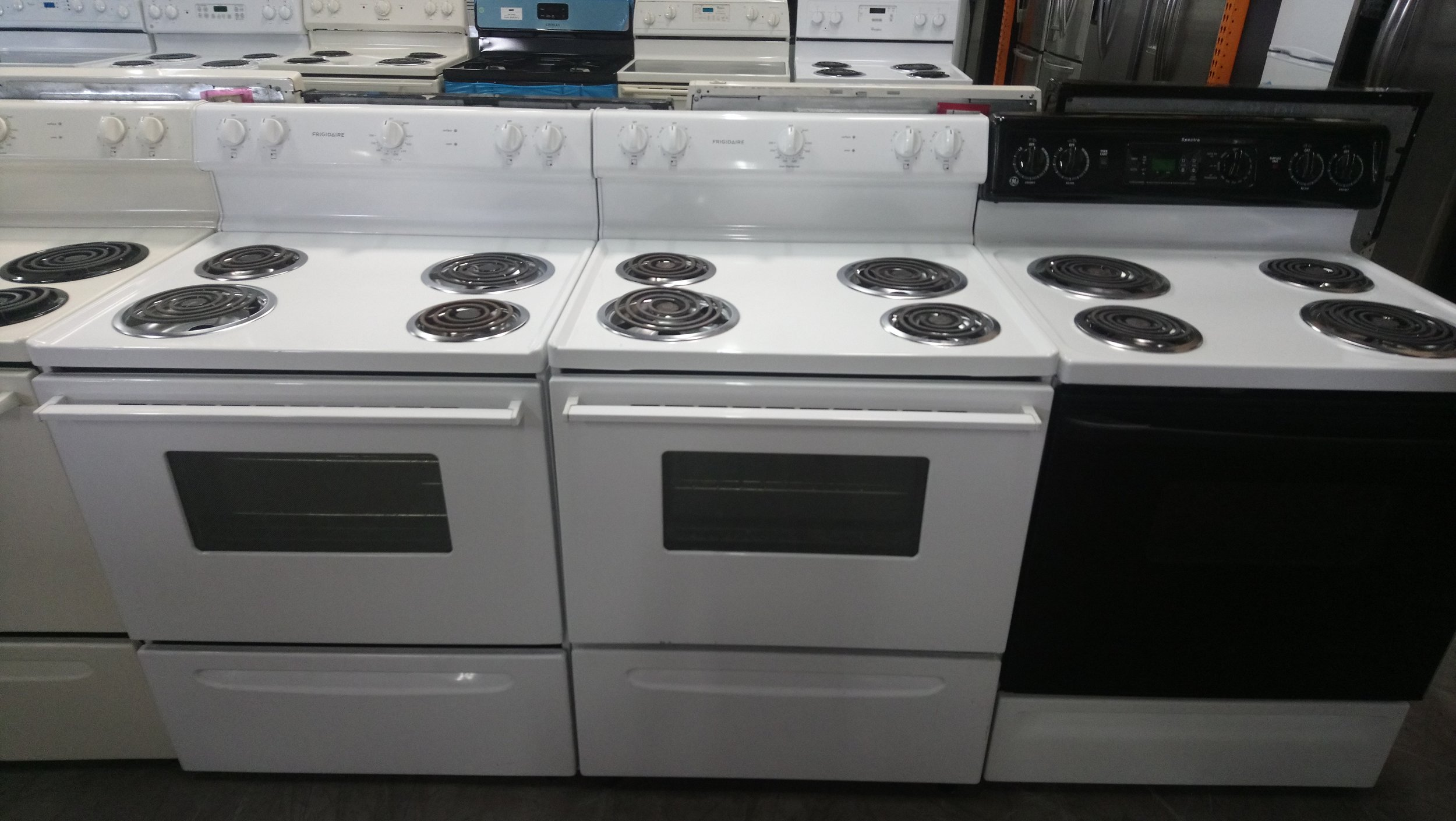 Used Electric Range @ $180.00 and UP ( 3 Months Warranty )
