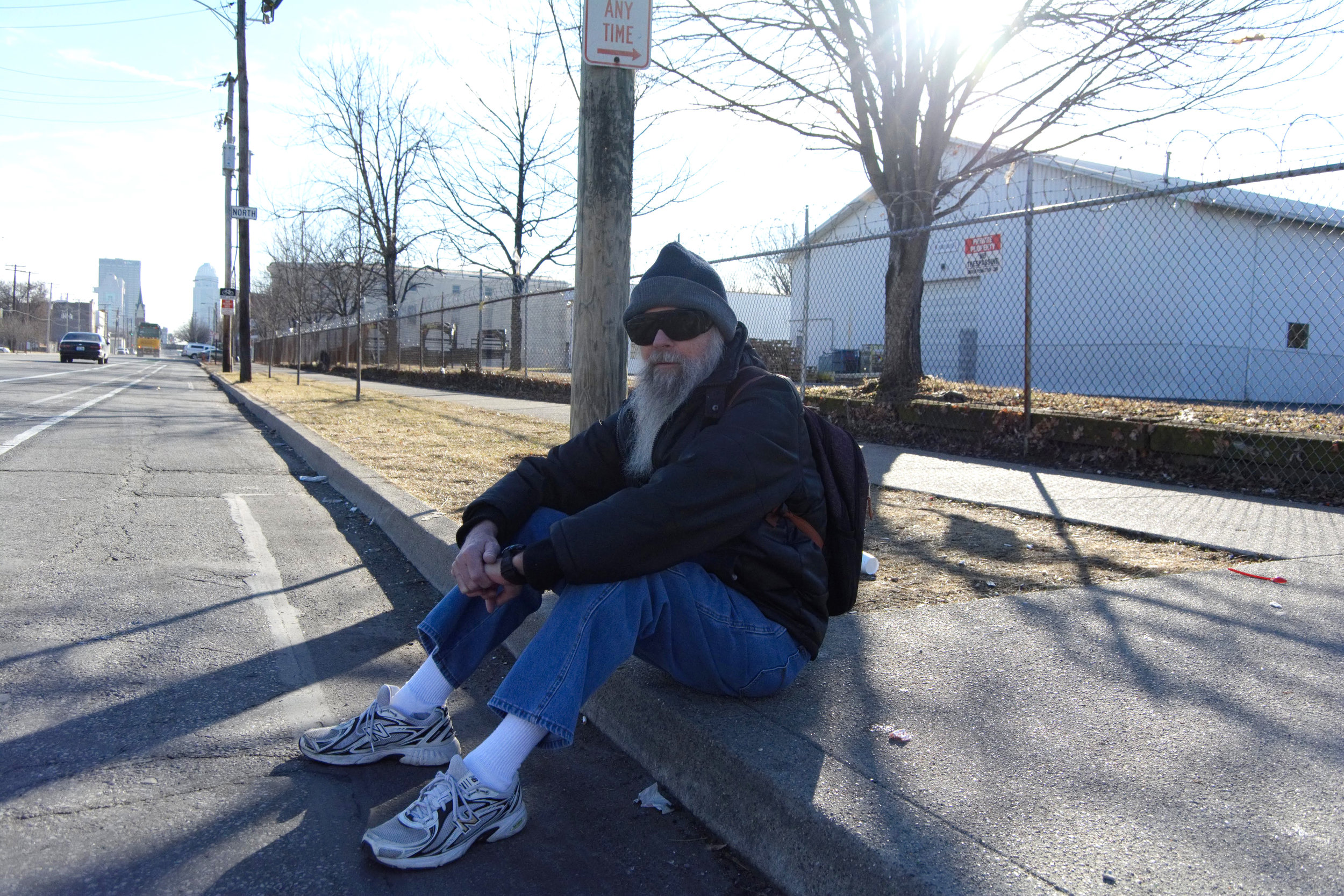 """""""We need more stores in this area. You know, somewhere where we can get some quality stuff.We got a million Dollar Stores but we need better stores for a better shopping experience. That would be the biggest improvement that I can think of. Also, they need to fix the sidewalks and streets to make them a little better.  My advice to the world is to let things go. If something bothers me, I just tell myself to get over it and move on. There's other stuff to do besides being angry and depressed. Drop all of that and move on. Find something to do and not something to sit on."""" - Dave, Russell"""
