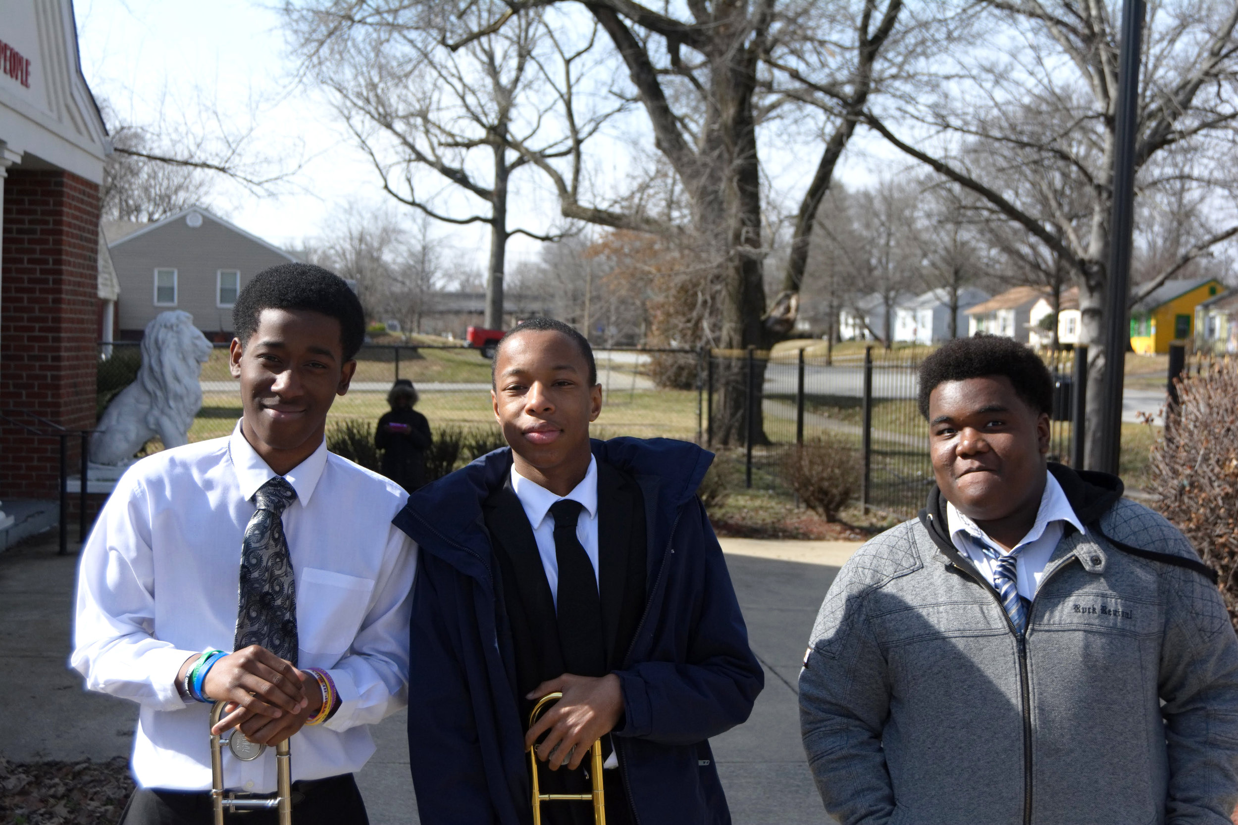 """""""I listen to music and try to keep from going outside. Right now they're gunning for young black men and I don't want to be apart of that. What keeps me focused is music and my schoolwork. Oh, and my parents because they stay on me.  Stay out of trouble and do your best."""" - Omarion, Charles, & Darius, Park DuValle"""