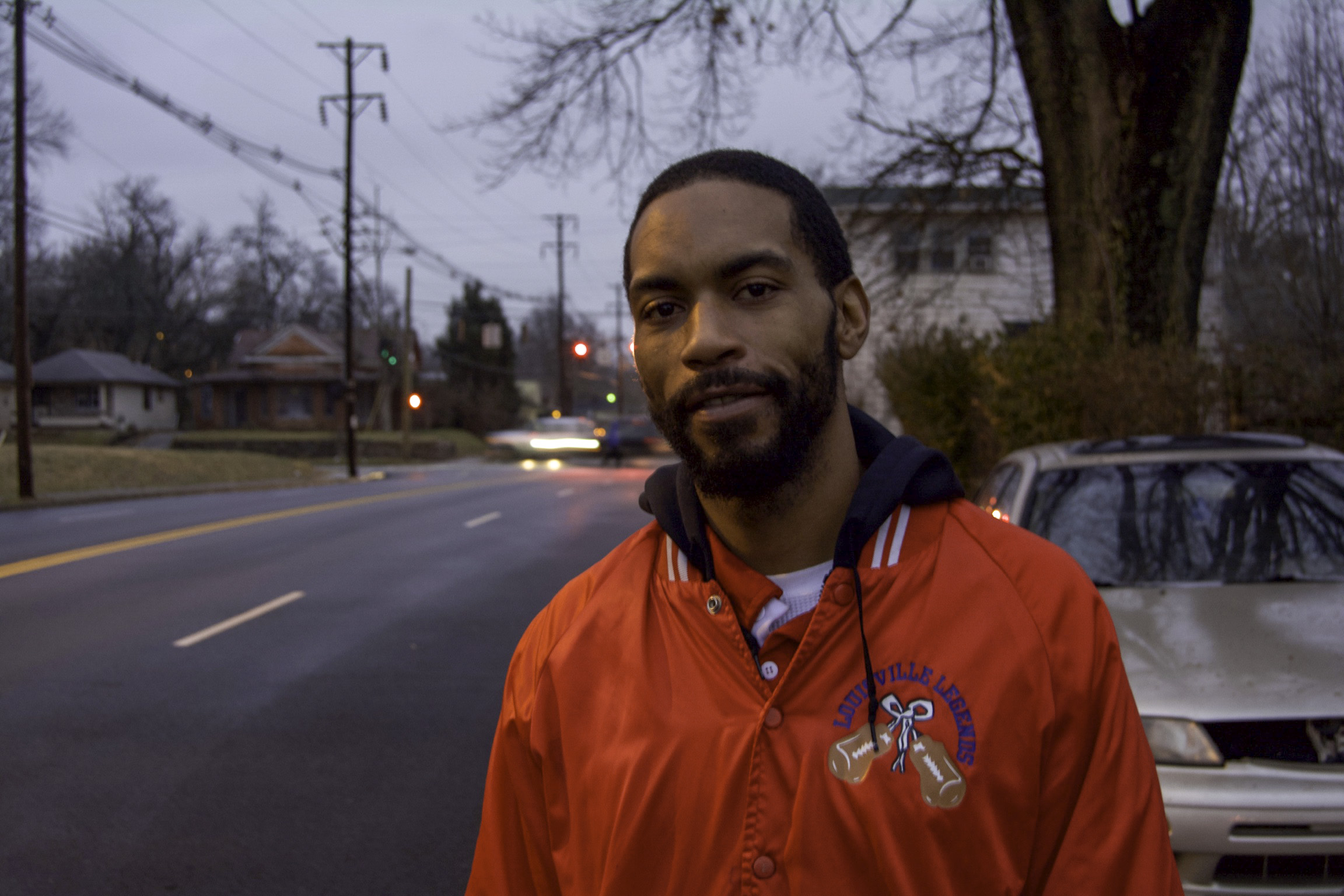 """""""I've been in the West End my whole life. I was born and raised here. We lived in California Square. When I was six or seven, we moved to 42nd. Yeah, I've been here my whole life.  Growing up in the West really ain't as bad as people think it is. It depends on the people that you involve yourself around and the people in your household. It's a lot deeper than just the streets. The streets don't turn people into monsters, people turn people into monsters. It's who they go look to find leadership in and who they feel like is giving them the most love at the time. It's deeper than just your surroundings and where you live at. I feel like it's the stuff on tv, the social media, the stuff that people are portraying is what's the best. It's making the youth turn into what they are. I feel like it's a lot of different outlets that people could use if they really care. People say that they care about a person but don't really feel the way that they say that they feel. They care more about what they could get out of the relationship instead of really helping a young person.  Ain't nothing wrong with the streets of the West. I don't feel like there's anything wrong. I've lived here my whole life. My mom loves the West End. She's been a respiratory therapist for twenty-something years. She's retired now and doing really well and she still lives in the West. She enjoys being around the people that she's around, not the streets.  I feel like they're changing the streets but they're not changing the streets. Just cause they're putting down new pavement and putting up a YMCA, it's not really going to be for the youth of the West End, you know, the people that they make look bad on the news. I feel like the government is putting everybody, that they feel like is a problem, in a certain situation anyway. If a person needs help, they're going to put them around a lot of people, who also need help, which makes a lot of bad shit happen. Even with the projects, they put people who needs"""
